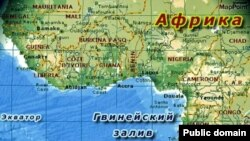Гвинейский залив на карте