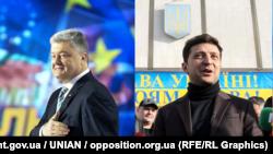 Потенційними учасниками теледебатів можуть стати Петро Порошенко і Володимир Зеленський (фотоколаж)