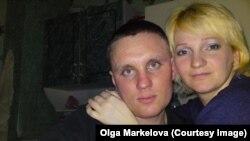 Загиблий найманець Дмитро Маркелов із дружиною Ольгою