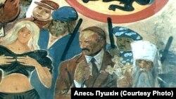 Александр Лукашенко на картине Алеся Пушкина