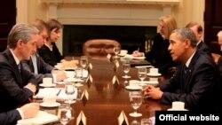 Iurie Leancă şi Barack Obama, Washington