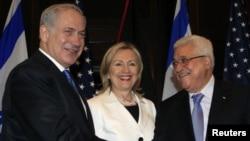 Бенјамин Нетенјаху, Хилари Клинтон и Махмуд Абас