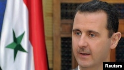Syrian President Bashar al-Assad during an interview with Russian television in Damascus in late October