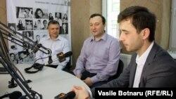 Igor Boţan, Corneliu Gurin, Leonid Litra (de la stânga la dreapta)
