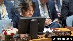 Shefja politike e Kombeve të Bashkuara, Rosemary DiCarlo.