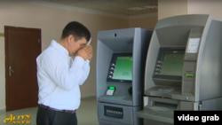"""Türkmenistanyň döwlet eýeçiligindäki """"Altyn Asyr"""" telewideniýesinden alnan bir pursat"""