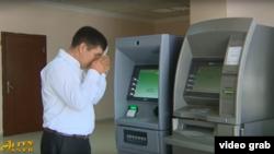 Türkmənistan dövlət televiziyasının reportajından kadr