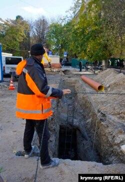 Ремонт водопроводу, Сімферополь, жовтень 2016 року