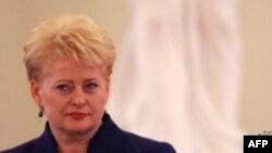 Литванската претседателка Далија Грибаускаите