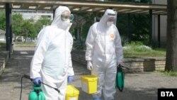 Специалисти от ВМА дезинфекцираха видинската болница, където 10% от персонала е заразен с коронавируса