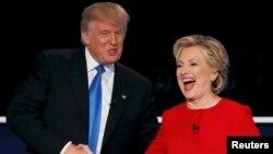 ԱՄՆ - Նախագահի թեկնածուներ Դոնալդ Թրամփն ու Հիլարի Քլինթոնը հեռուստաբանավեճից հետո, Հեմփսթիդ, Նյու Յորք նահանգ, 26-ը սեպտեմբերի, 2016թ․