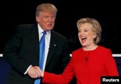 Дональд Трамп и Хиллари Клинтон после дебатов