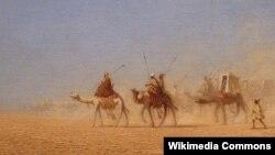 Шарль Тэадор Фрэр, «Караван на пустыні»