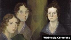 Сёстры-пісьменьніцы Эн, Эмілі і Шарлота Бронтэ. Партрэт Брануэла Бронтэ (1834).