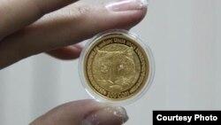 Коллекционная монета «Снежный барс».