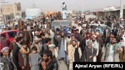Kunduz residents protesting civilian casualties on November 3