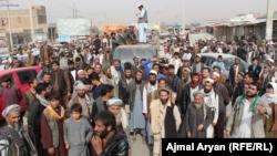 Kunduz residents protesting civilian casualties on November 3