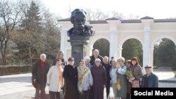 Украина, Симферополь, памятник Т.Шевченко, 9 марта, 2016г.