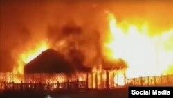 Пожар в этнокомплексе «Супара».
