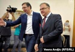 Vučić i Ivanić tokom sastanka u Beogradu
