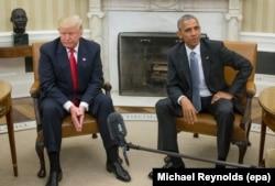 Трамп і Обама на зустрічі в Білому домі