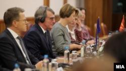 Претседателот на Европскиот Парламент Давид Сасоли во Скопје, 05.11.2019
