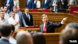 Олег Ляшко в Верховной Раде, 16 июля 2014