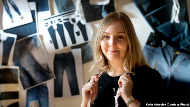 Dawn Ellams, a researcher with the School of Textiles and Design at Scotland's Heriot-Watt University, has produced a pair of jeans made from material other than cotton.
