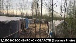 Лагерь мигрантов-нелегалов в Новосибирской области