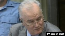 Ratko Mladić na suđenju Karadžiću