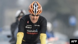John Kerry broke his leg in a cycling accident in France. (file photo)