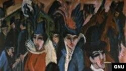 Эрнст Кирхнер, «Уличная сцена в Берлине» (1913) — одна из ключевых работ немецкого экспрессионизма