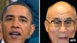 U.S. President Barack Obama (left) and the Dalai Lama (file photos)