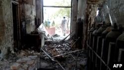 خسارات ناشی از حمله هوایی به مرکز درمانی پزشکان بدون مرز در قندوز