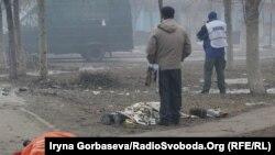 Микрорайон «Восточный» после обстрела. Мариуполь, 24 января 2015 года