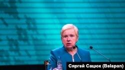 Председатель Центральной избирательной комиссии Беларуси Лидия Ермошина.