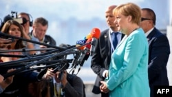 Ангела Меркель на саммите в Братиславе