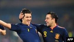دوید وی یا (راست) با گل پیروزی بخش خود اسپانیا را به نیمه نهایی جام جهانی آفریقای جنوبی رساند.