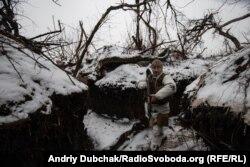 Лінія фронту української армії під Донецьком, 5 грудня