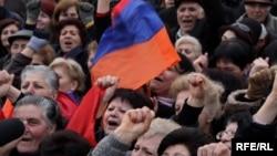 Митинг оппозиции в Ереване, 8 января 2010 г.