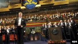 Нобель сыйлығын тапсыру салтанатындағы концерт.Стокгольм, 10 желтоқсан, 2008 жыл.