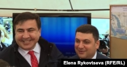 Саакашвили и Гройсман встретились как друзья