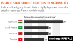 Islamic State Suicide Fighters By Nationality