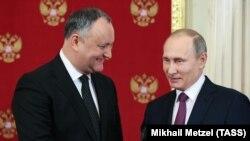 Игорь Додон и Владимир Путин во время встречи в Москве 17 января 2017 года