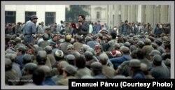 Minerii au sosit la București, 14 iunie 1990