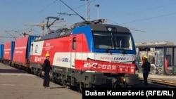 Treni kinez i mallrave që ka arritur nga Kina në Beograd.