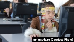 На международной олимпиаде по языку и культуре эвенов России и орочон Китая в 2016 году