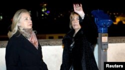 Hillary Clinton i Vesna Pusić u Zagrebu, 31. listopada 2012.