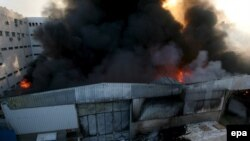 United Nations headquarters in Gaza City after Israeli bombardment on January 15