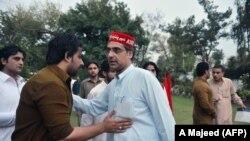 """Pakistanyň """"Awami milli partiýasynyň"""" (ANP) lideri Haroon Bilour, Peşawar, 25-nji aprel, 2018"""